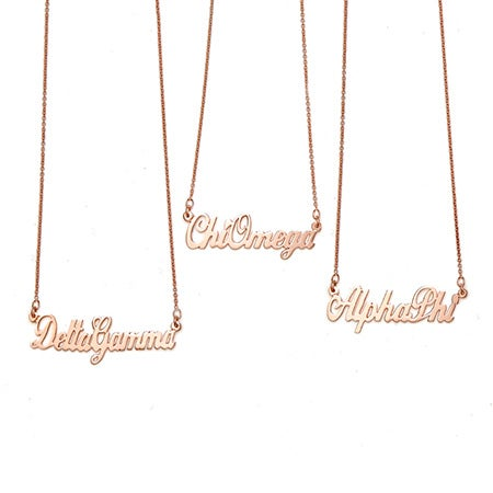 Rose Gold Sorority Name Necklace