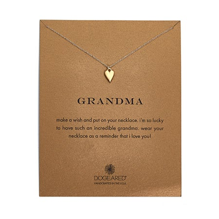 Dogeared Grandma Heart Gold Dipped Necklace