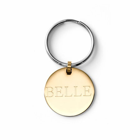 Engravable Large Gold Pet Tag