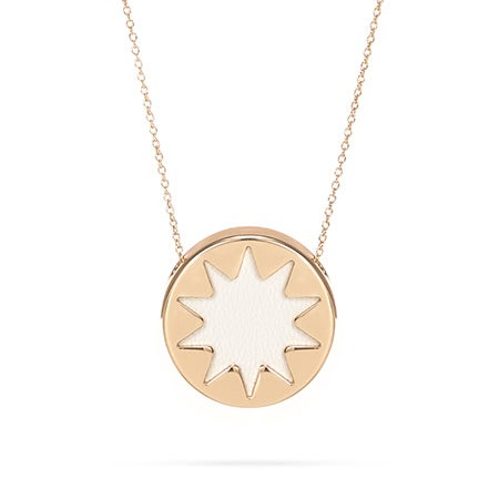 House of Harlow 1960 Mini White Sunburst Necklace