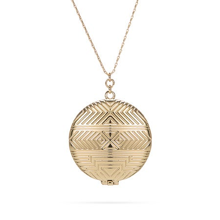 Gold House of Harlow 1960 Locket Necklace