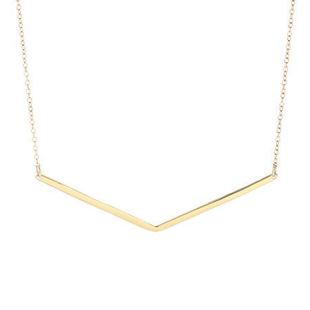 gorjana Taner V Necklace in Gold