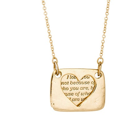 Foxy Love Note Necklace in Gold