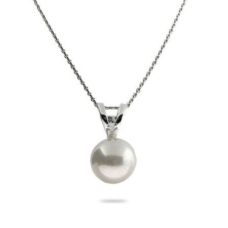 Single Freshwater Pearl Sterling Silver Necklace | Eve's Addiction®