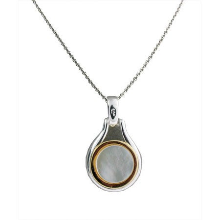 Bezel Set Pendant in Mother of Pearl