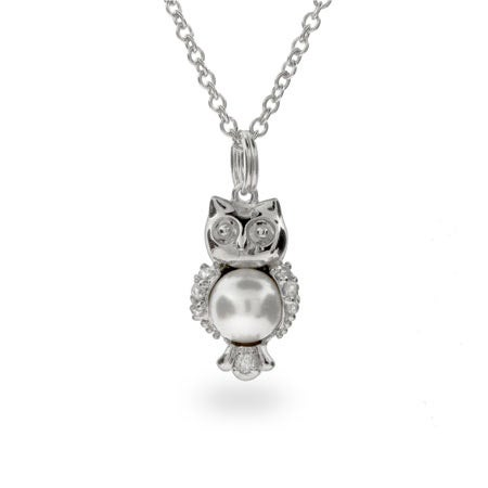 Freshwater Pearl Owl Pendant
