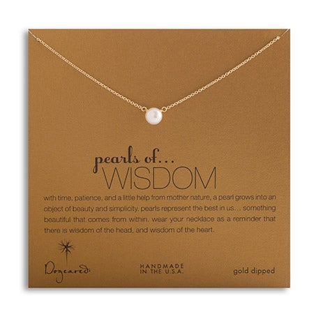 Dogeared Pearls of Wisdom Gold Dipped Necklace | Eve's Addiction®