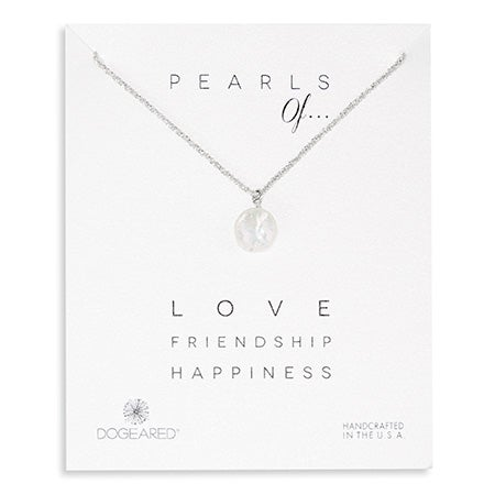 Dogeared Pearls of Love Friendship Happiness Silver Necklace