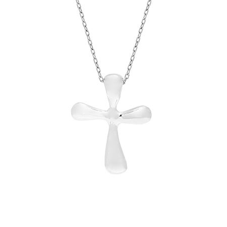 Designer Style Small Sterling Silver Cross Necklace | Eve's Addiction®