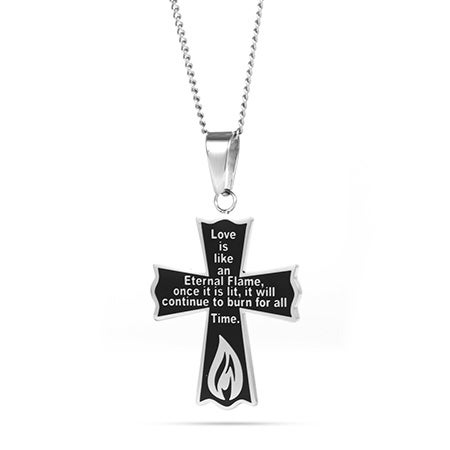 Engravable Bereavement Cross Pendant