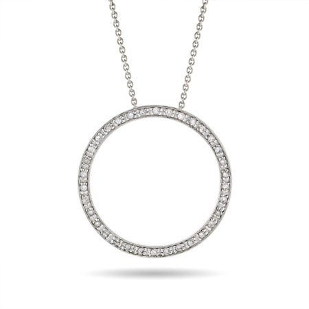 Diamond CZ 1.25 Inch O Necklace | Eve's Addiction®