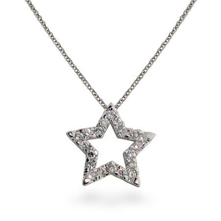 Designer Style Diamond CZ Star Pendant | Eve's Addiction®