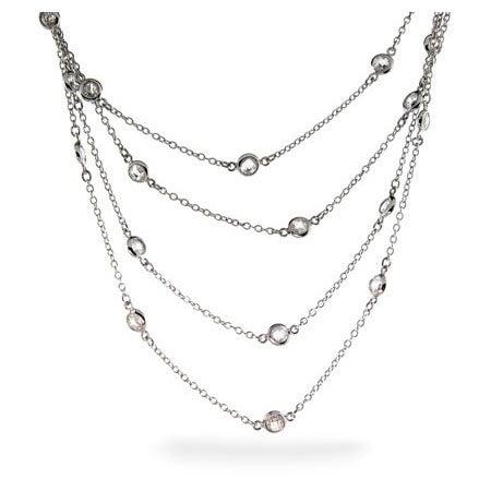 Designer Style Sparkling 60 Inch CZ Studded Chain | Eve's Addiction®