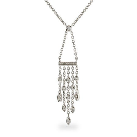 Designer Style CZ Sway Drop Necklace | Eve's Addiction®