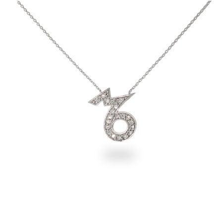 CZ Capricorn Zodiac Pendant