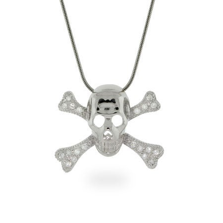CZ Skeleton Necklace