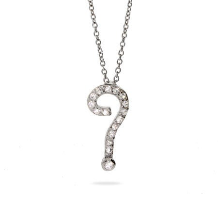 Celebrity Inspired Question Mark Necklace