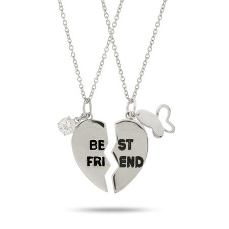 Best Friend Sterling Silver Friendship Necklace