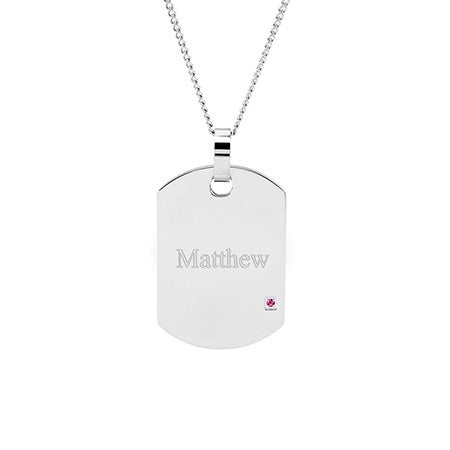 Engravable Birthstone Dog Tags | Eve's Addiction®