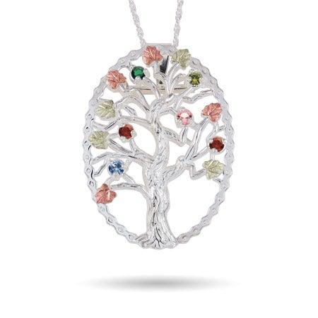 6 Stone Genuine Birthstone Family Tree Pin/Pendant