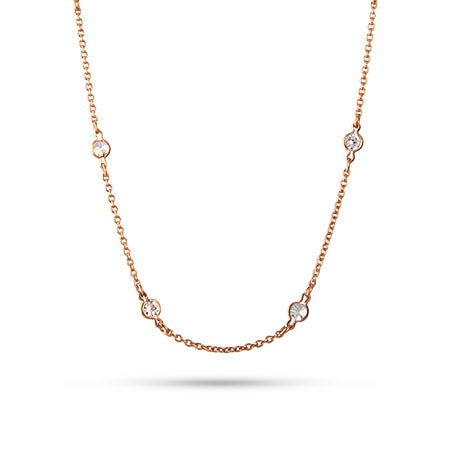 Rose Gold Vermeil CZ Studded Chain | Eve's Addiction®