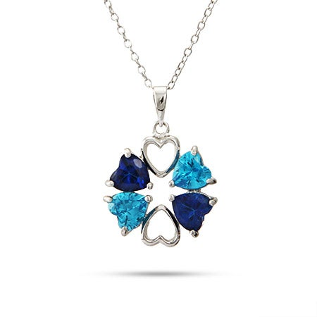 Custom 4 Heart Birthstone Mother's Necklace