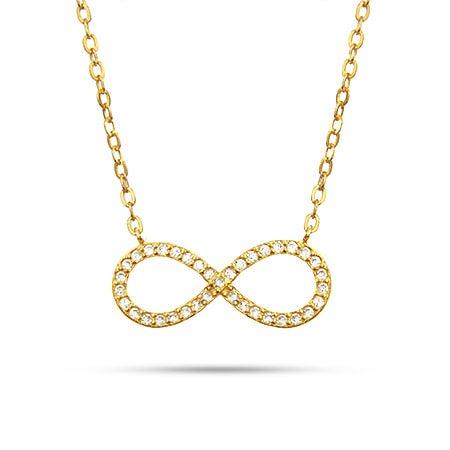 Gold Vermeil CZ Infinity Necklace
