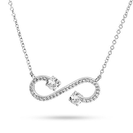 Sterling Silver Open Scroll Infinity Necklace | Eve's Addiction®