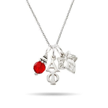 Alpha Phi Sterling Silver Charm Necklace