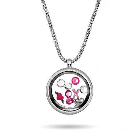 Breast Cancer Awareness Floating Charm Locket