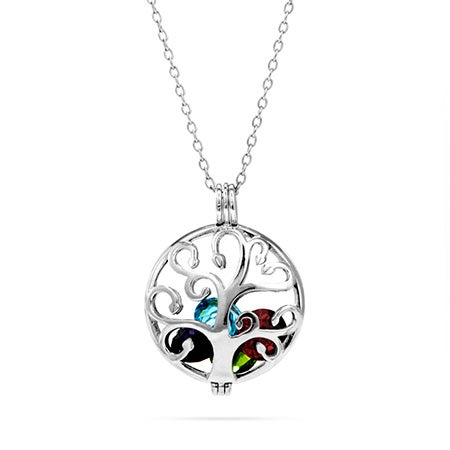 Custom Family Tree Birthstone Locket