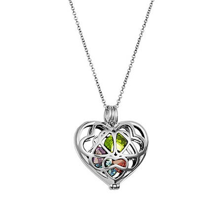 Custom Interlocking Hearts Birthstone Locket