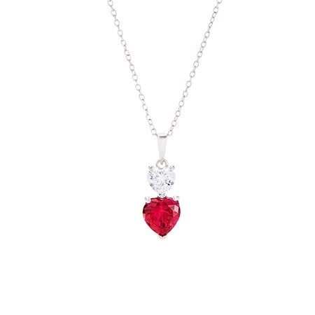 Custom 2 Heart Shaped Birthstone Necklace