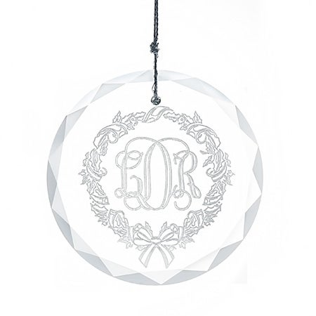 Personalized Monogram Glass Ornament