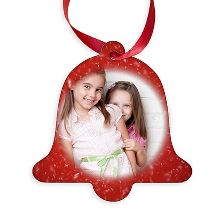 Custom Christmas Bell Photo Ornament