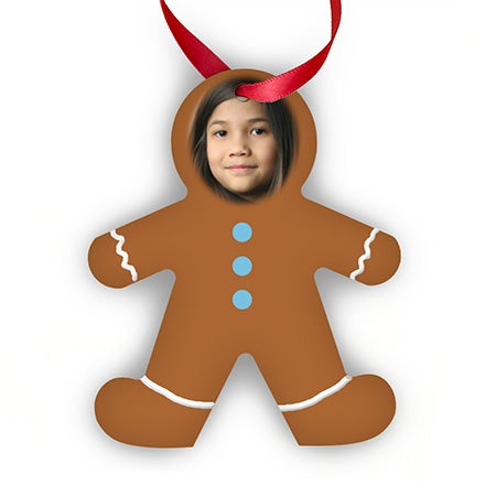 Custom Gingerbread Man Photo Ornament