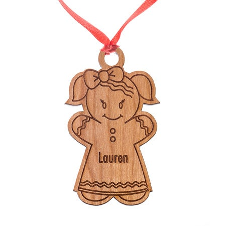Custom Gingerbread Girl Ornament