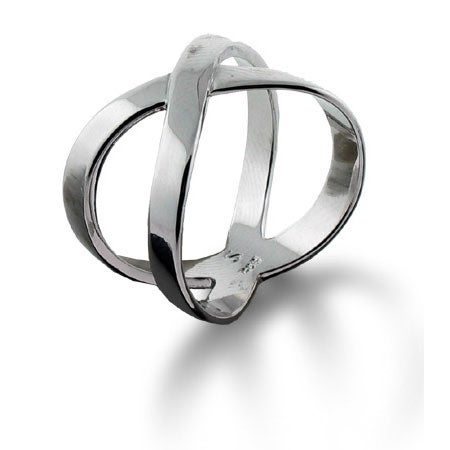 Designer Style X Ring in Sterling Silver | Eve's Addiction®