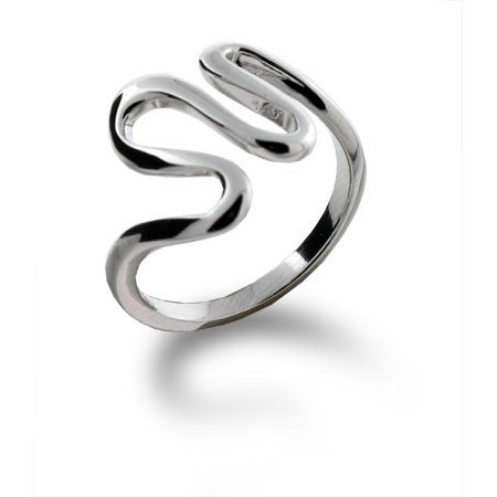 Designer Style Open Weave Ring in Sterling Silver | Eve's Addiction®