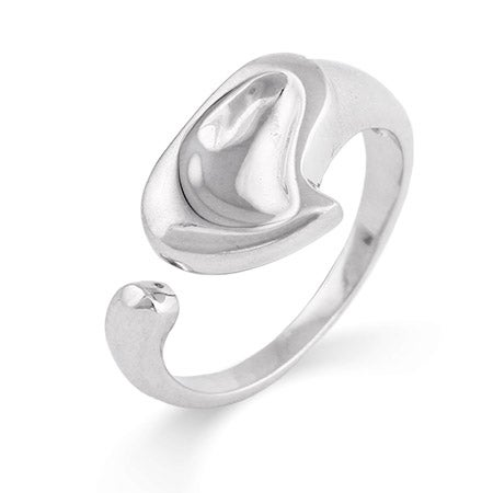 Designer Style Carved Heart Sterling Silver Ring | Eve's Addiction®