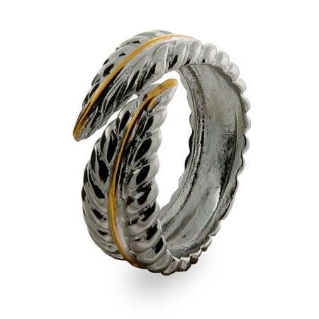 Designer Style Nature Leaf Ring | Eve's Addiction®