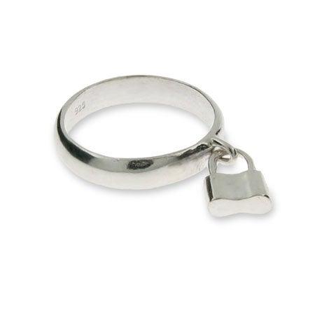 Designer Style Silver 1837 Lock Ring