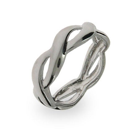 .925 Sterling Silver Woven Band | Eve's Addiction®