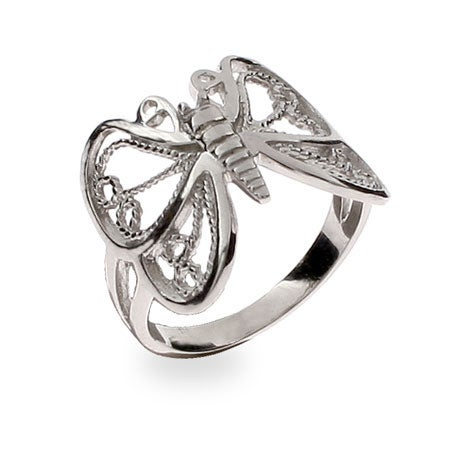 Sterling Silver Butterfly Ring | Eve's Addiction®