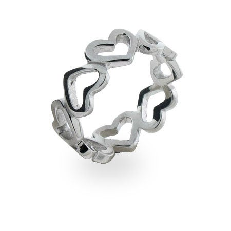 Continuous Heart Ring in Sterling Silver | Eve's Addiction®