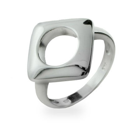 Designer Style Sterling Silver Cushion Ring | Eve's Addiction®