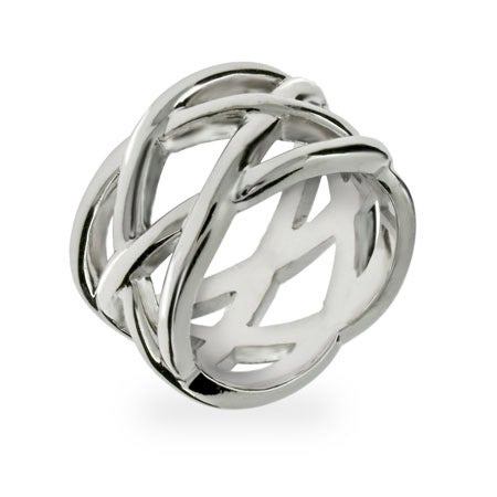 Designer Style Sterling Silver Celtic Knot Ring | Eve's Addiction®