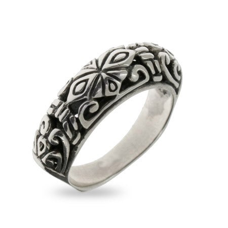 Sterling Silver Bali Design Ring | Eve's Addiction®