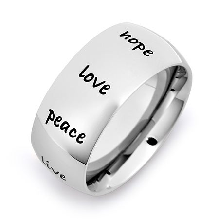 Engravable Stainless Steel Inspirational Ring | Eve's Addiction