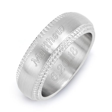 Stainless Steel Band with Milgrain Edging | Eve's Addiction®